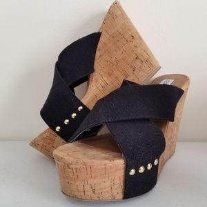 """Steve Madden """"Pride"""" Cork Wedge Platform Sandal"""
